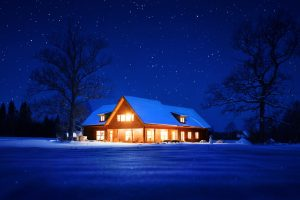 house-on-snowy-night